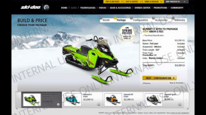 This is a 2015 Ski-Doo Summit X T3 with some colorful design editing, not manufacturing.